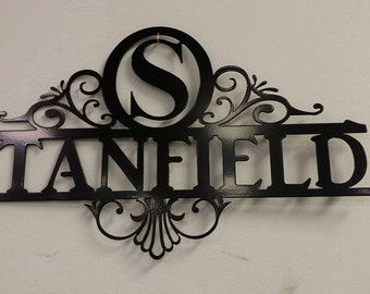 Personalized Name Metal Sign