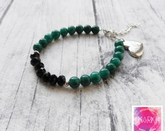 Charm bracelet, valentine's day, friendship bracelet, gemstone bracelet, beaded bracelet, jade bracelet, I love you charm bracelet, gift