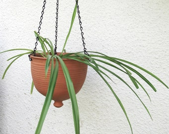 Large Hanging planter, home decor succulent garden Unique pots Ceramic Bowl Outdoors Gardening, no cement concrete, modern plant hanger