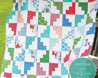 HELLO MARCH Quilt Pattern #156 by Cluck Cluck Sew - Easy Beginner Pattern in 5 Sizes - Layer Cake and Fat Quarter Friendly (W4356)