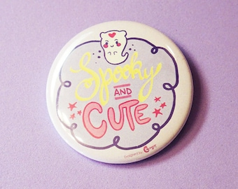 Spooky and Cute - 5cm Button