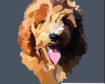 Custom Pet Portrait // Pet Portrait // Instant Download // Portrait From Photo // Digital Download // Digital Pet Print // Printable Pet Art
