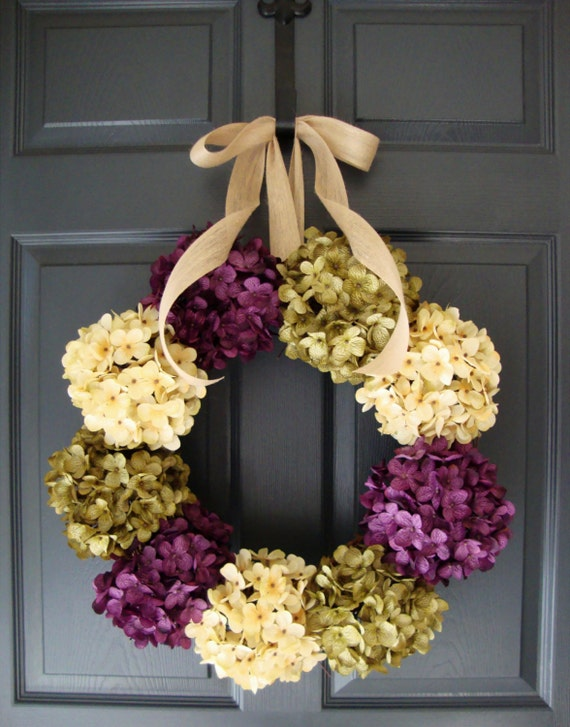 Hydrangea Wreath Wreaths Front Door Wreaths Spring