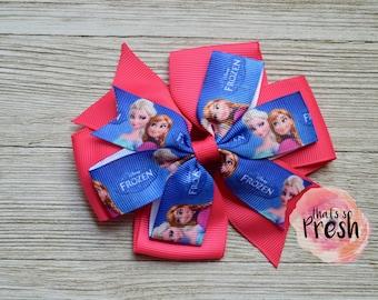 Frozen Hair Bow, Elsa Hair Bow, Elsa and Anna, Frozen Birthday, Frozen Party, Frozen Outfit, Frozen Party Favors, Frozen Hair Clip