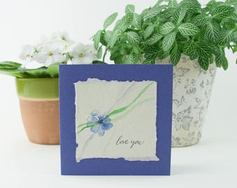 Greeting card - handpainted - love