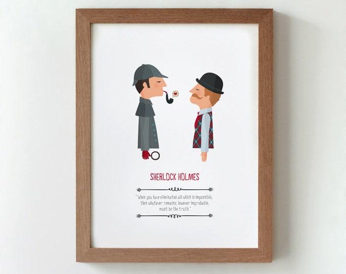 """Ilustración """"Sherlock Holmes"""". Basada en la obra de Arthur Conan Doyle."""