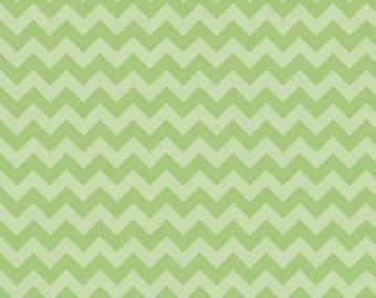 Tone on Tone Green Chevron
