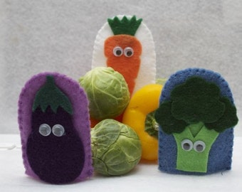 Vegetable Medley Finger Puppets