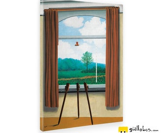 Paintings Canvas painting-Rene Magritte-the human condition-yellow BUS