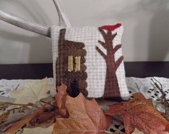Woolen Pinkeepers Tiny Log Cabin Kit & P{attern