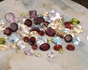 over 50 carats of loose natural semiprecious gemstones