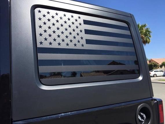 Flag Decals Jeep Jku Jk Wrangler Back Window American Flag
