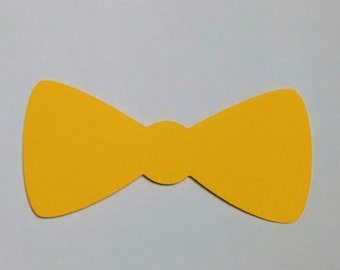 8 bow ties cardstock  4 inches