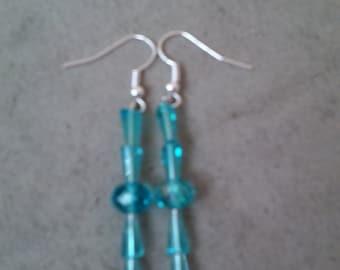 Baby Blue Artemis Bead Earrings