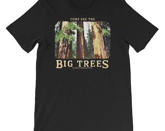 "Yosemite Redwood Trees, Sequoias, ""Come see the Big Trees"" - Yosemite National Park, California souvenir T-Shirt"