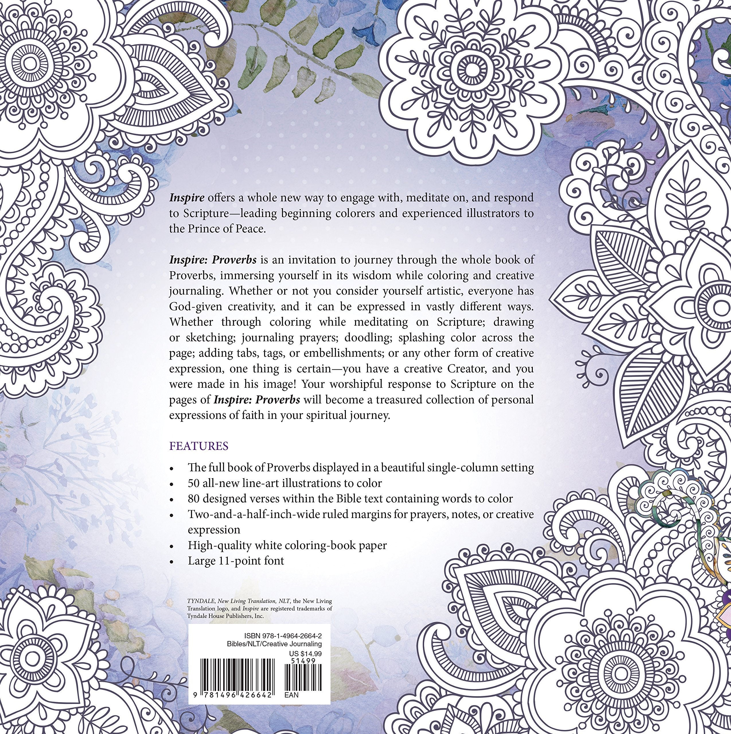 Inspire Proverbs Coloring Creative Journaling Through The