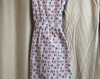 Apron with Heart Fabric