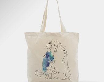Sac en coton, yoga, zen, cadeau, femme, hippie, mode, fille, tote bag