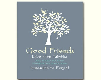 Gift for Best Friend, Thank You for Being a Friend, Birthday Gift, Moving Away Gift, Personalized Wall Decor Any Color Available
