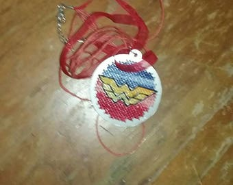 Wonder Woman embroidery pendant