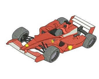Formula one design embroidery