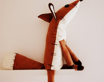 Pdf sewing pattern Fox Stuffed Animal -Fox plush toy pattern, FREE SHIPPING