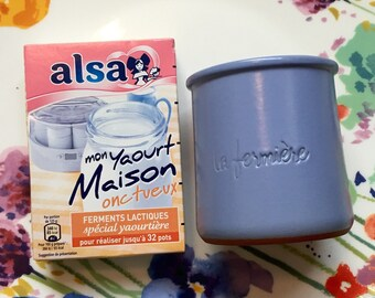 Yogurt starter with a clay yogurt jar