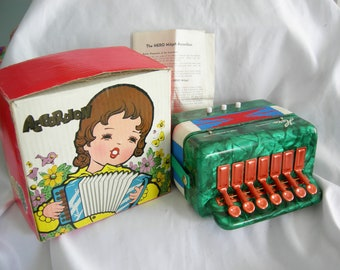 Mini Accordion | Hero Brand | Made in Shanghai China | New Old Stock | Vintage