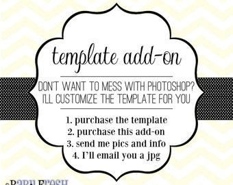 Customized Photographer Template • Template for Photographers Add-on • Custom Photography Marketing Template