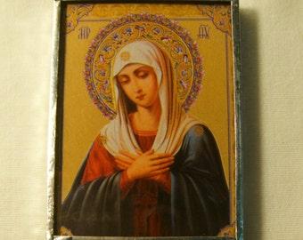 Virgin Mary & Baptism of Christ Pocket Travel Icon  inv1152
