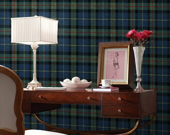 Tartan Easy to Apply Removable Peel 'n Stick Wallpaper