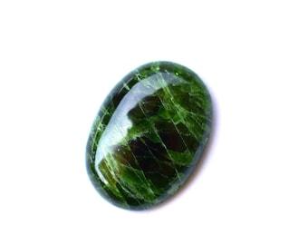 RARE Chrome diopside natural gemstone cabochon  26 x 19 x 6 mm