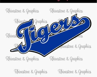 Tigers with Tail Instant download SVG, Eps, DXF Cutting File