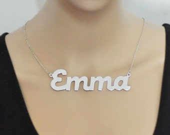 Custom name necklace, personalized necklace,alloy name jewelry,Personalized large necklace, Big size, Customized Valentine gift for her
