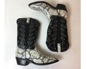 Vintage Durango Snakeskin...
