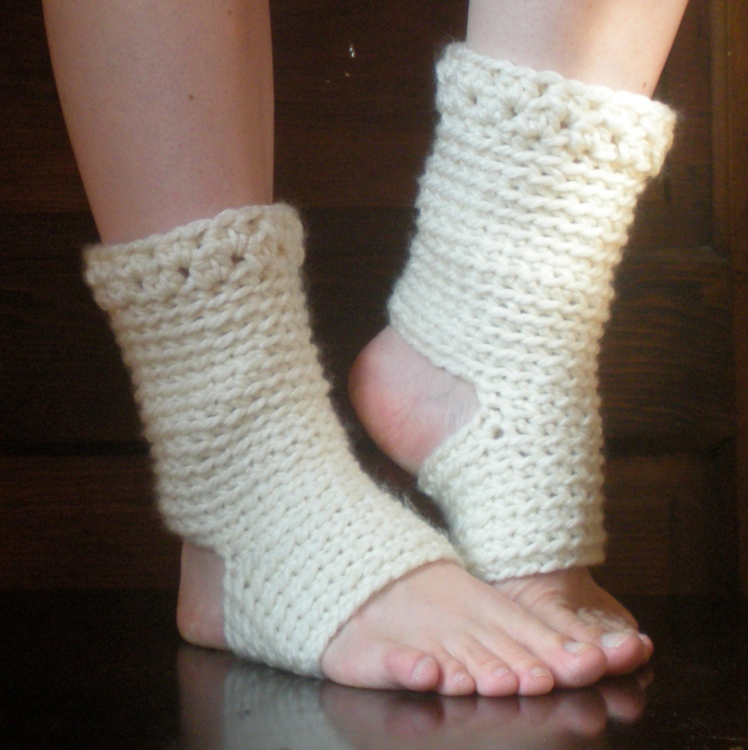 PATTERN: Thick Yoga Socks, Dance Pilates Ballet Leg Warmers, easy ...