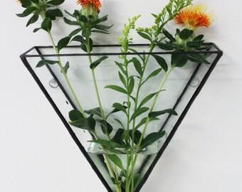 Ada Triangle Glass Wall Mount