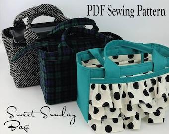 Sweet Sunday Bag by Toriska, PDF sewing pattern, purse pattern, bag pattern, downloadable digital file, purse tutorial, scripture bag, tote