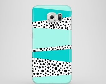 Mint and Dots phone case / doodle iPhone X case / polkadots iPhone 8 / iPhone 7 / iPhone 7 Plus / iPhone 6S / iPhone 6 / iPhone 5S, 5, SE