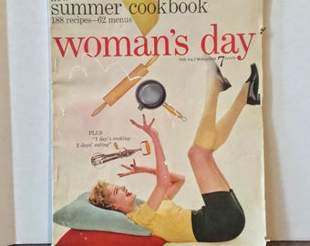 Vintage July 1954 Woman's Day Magazine - Vintage Magazine - Vintage Woman's Day Magazine - Woman's Day Magazine