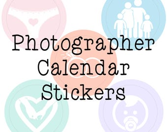 Photography Calendar Stickers