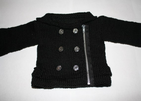 Pdf Knitting Pattern Baby Moto Jacket And Felted Boots