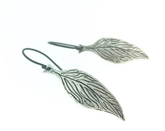 sterling silver feather earrings . boho jewelry . bohemian jewelry . inspirational quote jewelry earrings . ready to ship