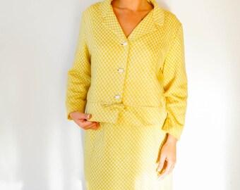 Free Shipping! Vintage 1960s  Sears Co-Ordinates Dress Set Size M-L, Vintage Dress, Houndstooth Dress, 60s Suit, Vintage Clothing, Jackie-O