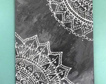 Stormy Night Mandala Painting