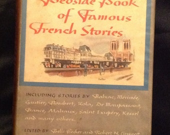 "1945 ""Bedside Book of Famous French Stories .. First Printing - In English"