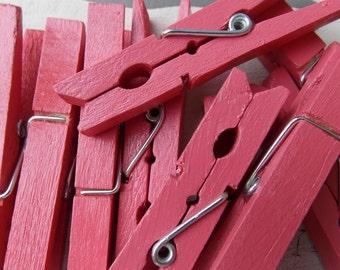 watermelon pink clothespins