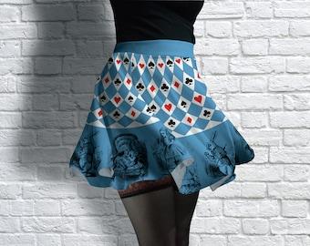 Alice In Wonderland Scuba Skater Skirt