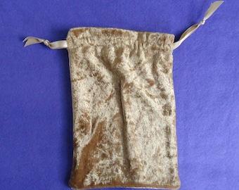 Tarot Bag Large - Gold Crushed Velvet