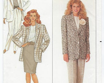 Butterick 6877 - MISSES Jacket, Pants & Skirt / Sizes 6, 8, 10